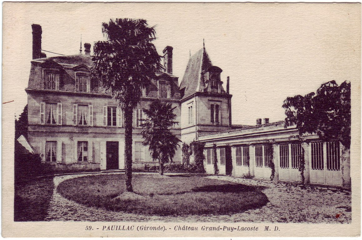 Château Grand-Puy-Lacoste in 1870