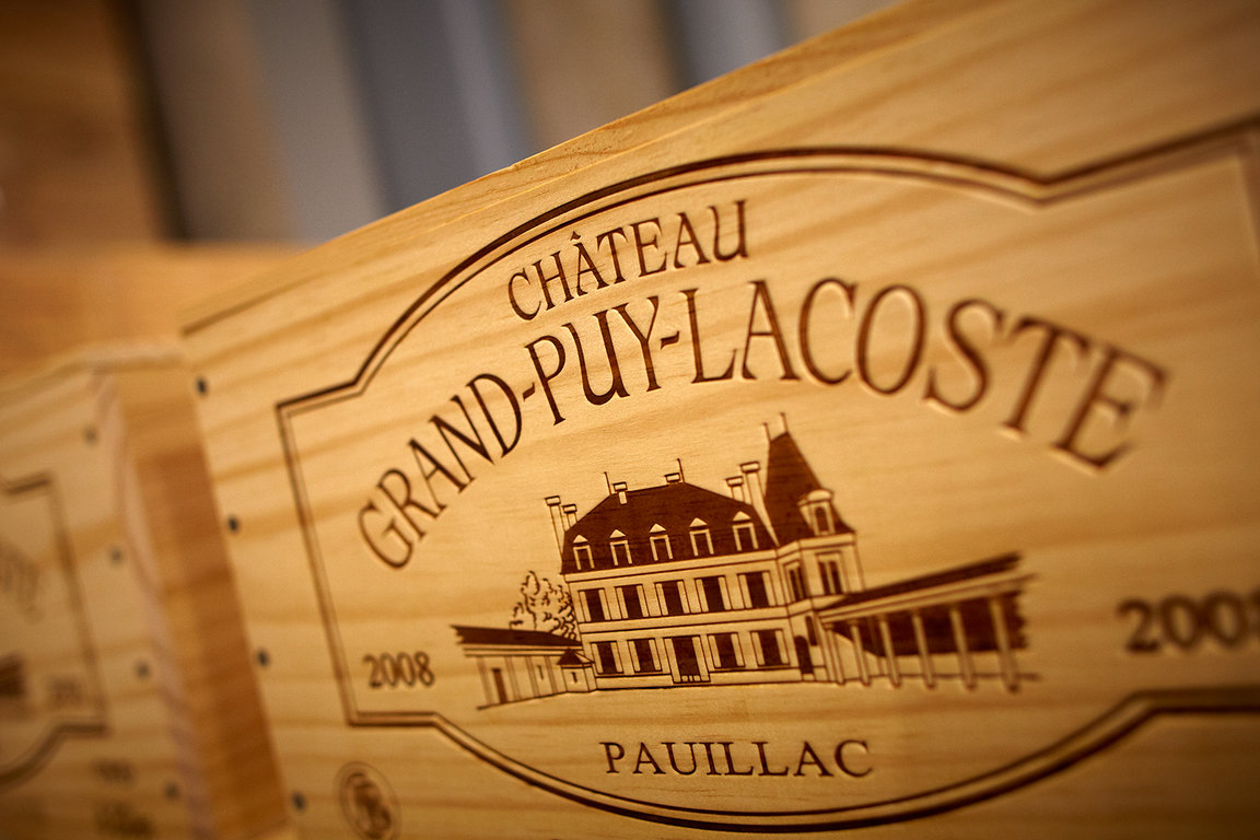 Château Grand-Puy-Lacoste stamp
