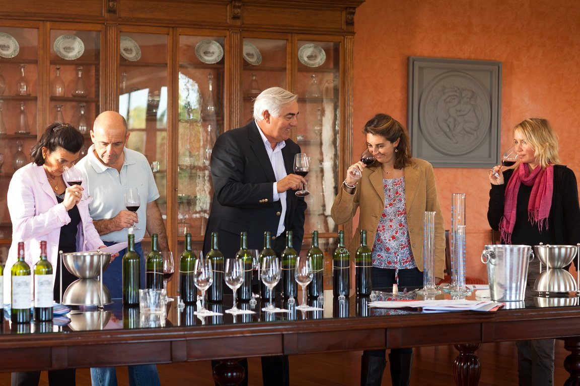 Tasting for the Grand Vin blend selection